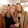 (LtoR) Cindy Santiago, Cheryl Morris and Karen Swanson at Nirvana Aveda Salon for the Art Party!