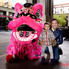 Katelyn Sherman and daughter Chloë at Sino in Santa Row to celebrate the Lunar New Year with The Far East Dragon Lion Dance Association