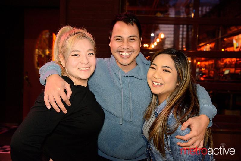 (LtoR) Crystal Sepulveda, Leif Pilar and Dana Lazo all of San Jose enjoying a night out at The Continental Bar Lounge & Patio