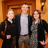 "(LtoR) Melanie Holmgren, Jared Hartsock and Allison Saettele at the Montgomery Theater for ""Musae on the Brain: Women in Voice and Science"""
