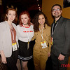 "Cinequest 2020 - Loft Bar and Bistro (LtoR) Monica Arsenault, Jessica Cameron (Horror movie Director/Actor of ""A Bad Place"" who had trouble with her Airbnb Rental in San Jose), Charlie Buhler and Danny Epstein"
