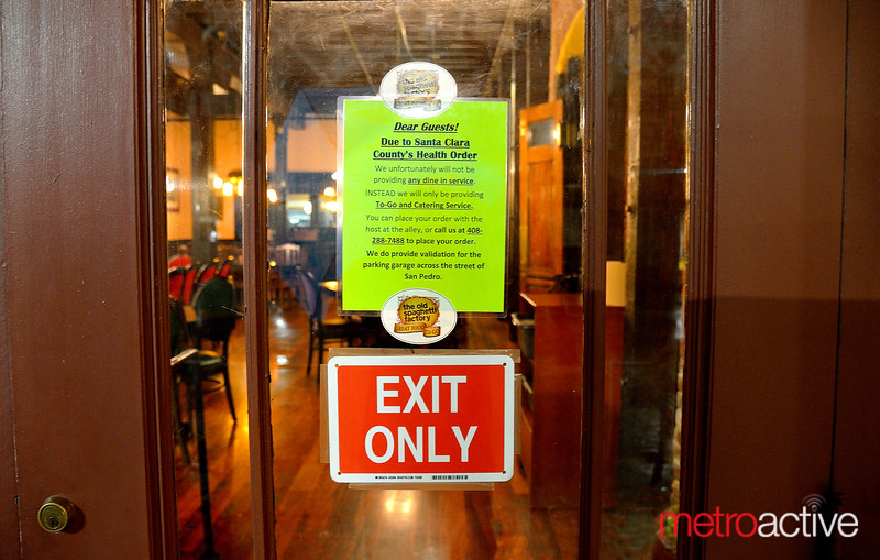 """Coronavirus Shut Down - Old Spaghetti Factory in San Pedro Square sold only """"To Go"""" orders"""
