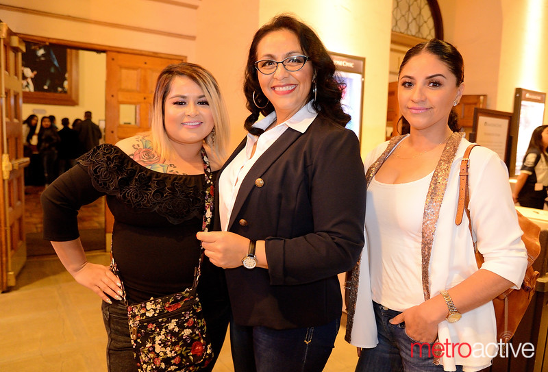 Hilda Cardenas of Hollister, Fatima Gutierrez of Oakland and Claudia Villagrana of Hayward at the City National Civic for Daniel Habif World Tour
