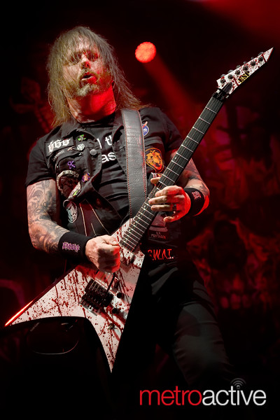 Gary Holt of SLAYER (and Exodus) performing at Oakland Arena for SLAYERS last tour - 26 Nov 2019