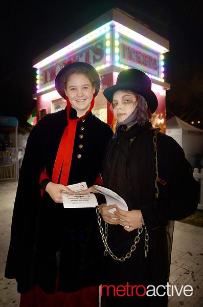 (L) Margaret Gardella and Violet Sanders both of San Jose at Christmas in the Park