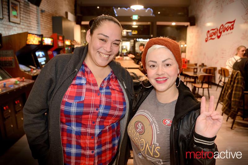 (L) Eloisa Garcia and Teresa Daniels both of San Jose at Mini Boss