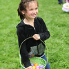 Kaiella Cremidis is happy about her  basket full of eggs  The Petaluma Mother's Club  Easter Egg Hunt at McNear Park on April 12, 2014