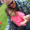 Bill and Ellie Zimmerman pick flowers at The Petaluma Mother's Club  Easter Egg Hunt at McNear Park on April 12, 2014