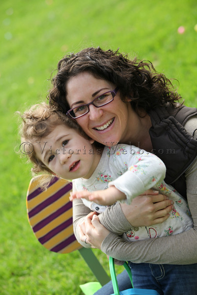 Genna Mori Tricarico and daughter,  Ileana Johanna Tricarico  at The Petaluma Mother's Club  Easter Egg Hunt at McNear Park on April 12, 2014