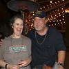 PMF Silent Auction Coordinator, Meg and her husband and PMF President Mark Mooney On Monday Feb 24, 2014 . The Petaluma Music Festival held a Mardi Gras fundraiser at  Lagunitas.