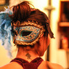 Karla Placencia's mask. On Monday Feb 24, 2014 The Petaluma Music Festival held a Mardi Gras fundraiser at  Lagunitas.