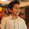 Kylan Aguirie has fun. On Monday Feb 24, 2014 The Petaluma Music Festival held a Mardi Gras fundraiser at  Lagunitas.
