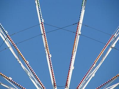 Ferris wheel detail.