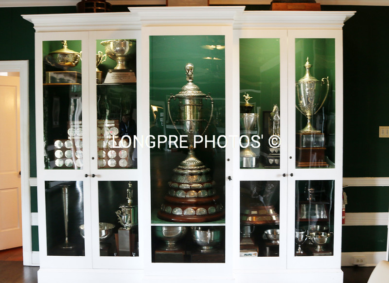 TROPHY cabinet at Santa Barbara Polo club.