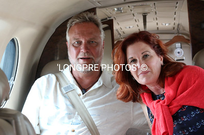 SCOTT and CHERI POE in back of our King Air flight to Santa Barbara.