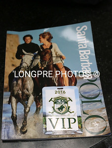 Magazine about POLO in Santa Barbara.  and my VIP pass.