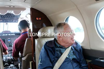 BILL WAKEMAN enjoying flight from Orange County to Santa Barbara airport.