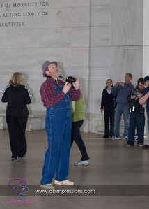 Another random, unknown person at the Jefferson Memorial