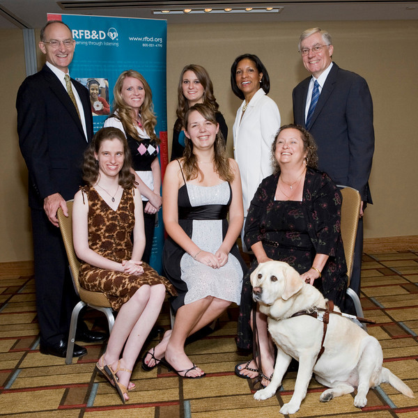 (Standing, l to r) John Kelly, Tiffany West-Bergt, Abby Nash, Deborah Brittain, Richard Cox<br /> <br /> (seated l to r) Jessie Kirchner, Kirsten Amling, Juliet Cody