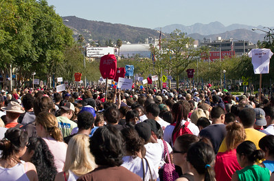 Now in its 23nd year, AIDS Walk Los Angeles is Southern California's largest HIV/AIDS fundraising event and has raised more than $55 million for the fight against AIDS in Los Angeles. The AIDS Walk begins and ends in the heart of West Hollywood at San Vicente Boulevard, between Melrose Avenue and Santa Monica Boulevard. The 10K (6.2 mile) route passes through the streets of West Hollywood and Los Angeles.