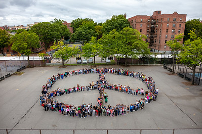 2018_09_21, Flushing, Human Peace Sign, New York, NY, Peace Sign, PSMS200
