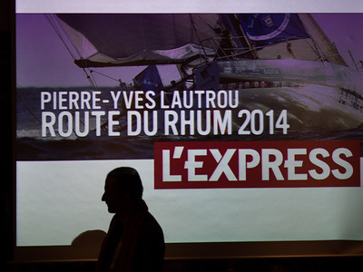 PYL: Présentation du projet Route du Rhum 2014 à l'Express PYL: Présentation du projet Route du Rhum 2014 à l'Express