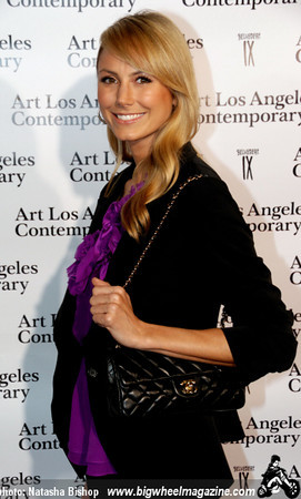 Actress Stacy Keibler arrives at the opening night gala of the 1st Annual Art Los Angeles Contemporary held at the Pacific Design Center on January 28, 2010 in Los Angeles, California.