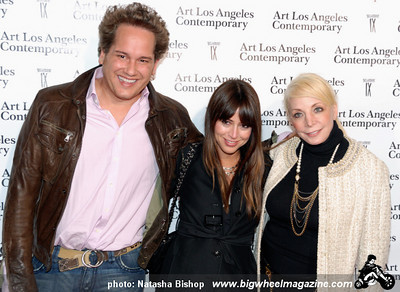 Eduardo de la Renta, Nina Gelb, Tina Hillstrom arrive at the opening night gala of the 1st Annual Art Los Angeles Contemporary held at the Pacific Design Center on January 28, 2010 in Los Angeles, California.