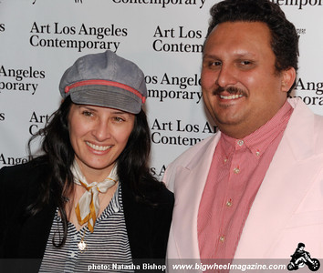 Artists Monique van Genderen and Mario Ybarra jr arrive at the opening night gala of the 1st Annual Art Los Angeles Contemporary held at the Pacific Design Center on January 28, 2010 in Los Angeles, California.