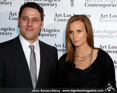 ALAC director Tim Fleming and actress Rachel Griffiths arrive at the opening night gala of the 1st Annual Art Los Angeles Contemporary held at the Pacific Design Center on January 28, 2010 in Los Angeles, California.