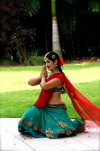 Dancer Narayani Maharaj performs a classical Bharata Natyam dance of South India.