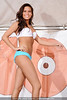 Kendyl Burdette participates in the bikini contest at the Dupont Hooters. April 13, 2013.