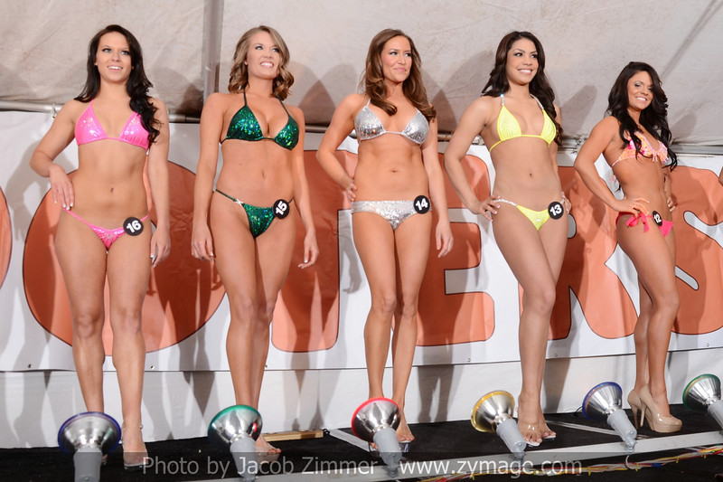 Contestants in the bikini contest at the Dupont Hooters. April 13, 2013.
