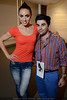 """Sarah Terry and Isidro Valenciage at the """"Art Walks the Runway"""" show at the KY Museum of Art & Craft. April 12, 2013."""