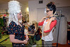 """Coleen Clines and Holly Houston get prepared in the dressing room before the """"Art Walks the Runway"""" show at the KY Museum of Art & Craft. April 12, 2013."""