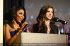 Emcees Miss Kentucky 2010 Djuan Trent and Miss University of Louisville 2009 April Rienle.