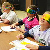 Debbie Blank | The Herald-Tribune<br /> Students (from right) Kathryn Wilder, Abbey Prickel, Samantha Tonges and Dominic Butz get used to having no vision.