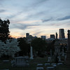 One of my favorite views from the cemetery, seeing bits of the Atlanta skyline make it special to me.