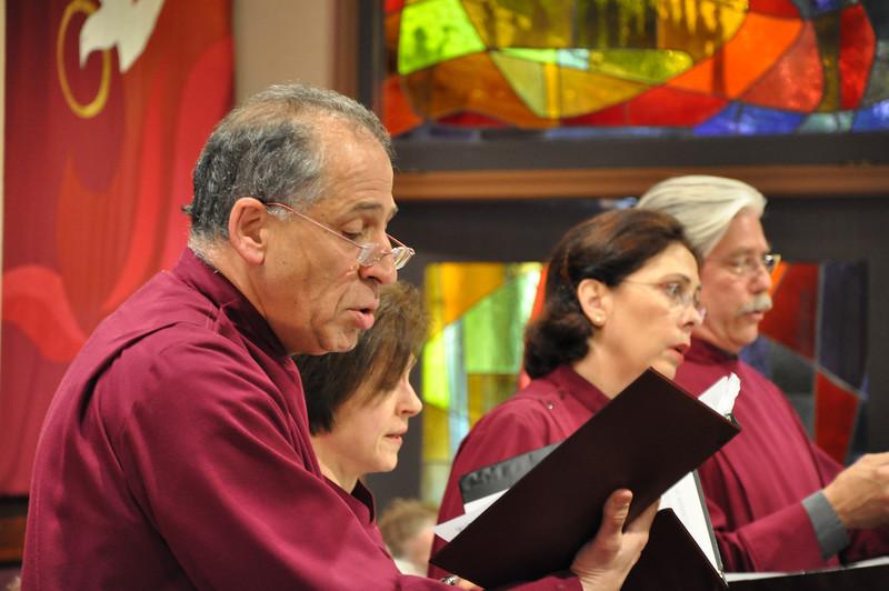 Sig Seigel, Elizabeth Gallagher, Julie Knell and Jere Torkelson show us how it's done. A ravishing Benedictus quartet (Mozart's Requiem, Palm Sunday at St. John's Oakland)