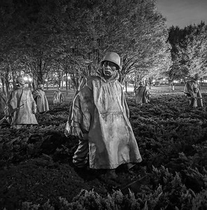 The ghostly Korean War Memorial