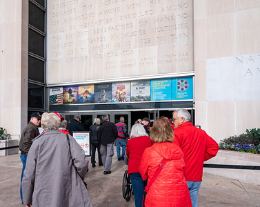 Entering the American History Museum