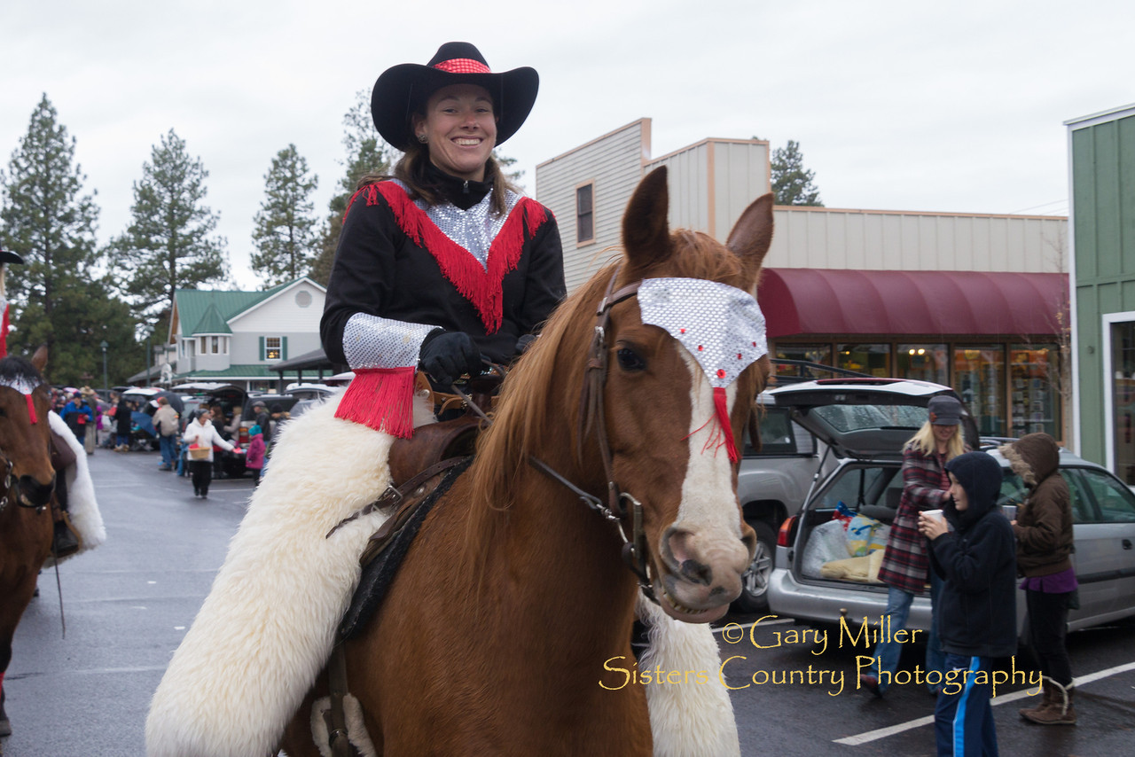 Alicia Lettenmaier on Roy. Image taken at the 2012 Sisters Oregon Christmas Parade on February 24, 2012 - Gary N. Miller - Sisters Country Photography