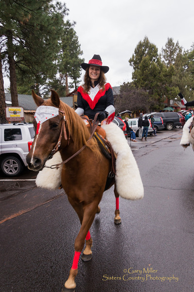 Angela Capdevila on Penny. Image taken at the 2012 Sisters Oregon Christmas Parade on February 24, 2012 - Gary N. Miller - Sisters Country Photography