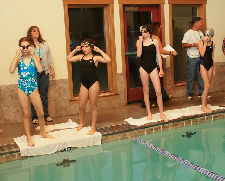 Nailbitingly tense at the Sisters Athletic Club swim competition. Nov 6, 2009. Gary Miller - Sisters Country Photograpny