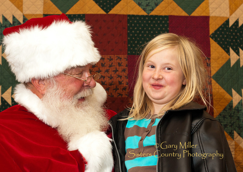 Visiting Santa Claus - Sisters, Oregon Chamber of Commerce -2011- Photo by Gary N. Miller - Sisters Country Photography