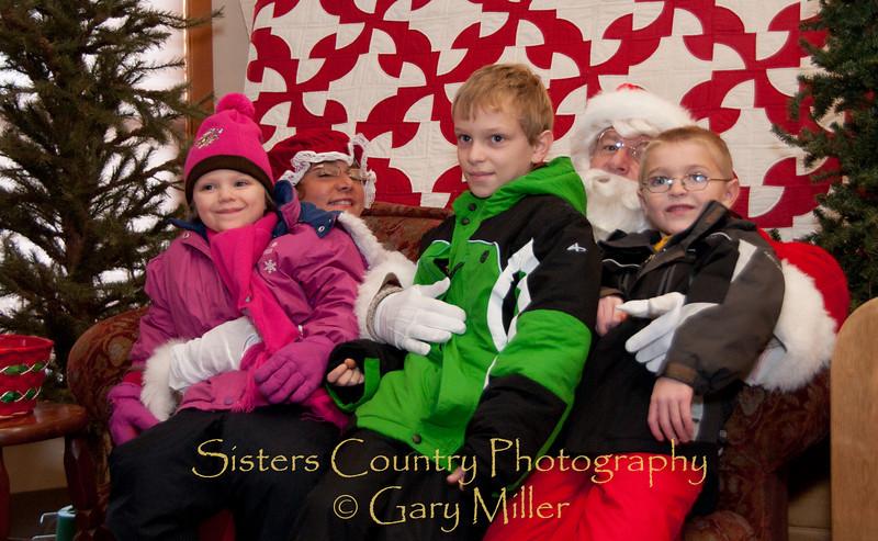 Santa Visits Sisters, OR - 2010 - Gary Miller - Sisters Country Photography
