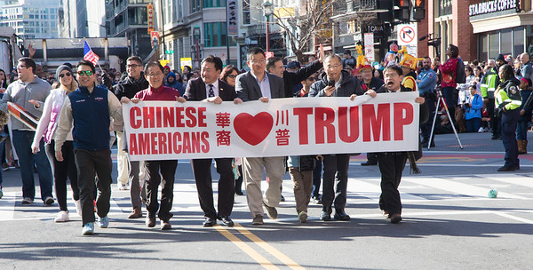 DC Chinese New Year's Parade, Donald Trump