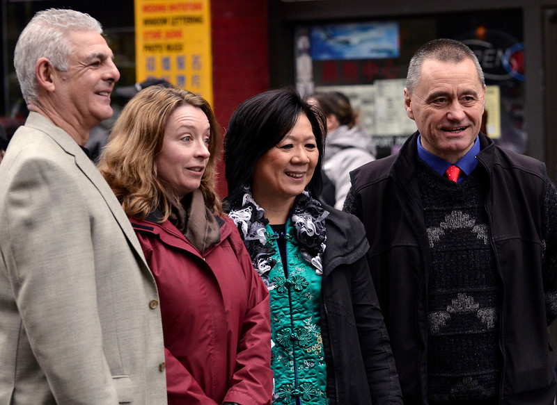 (second from right) Ida Chong is British Columbia's Minister of Community, Sport and Cultural Development and was Minister Responsible for the Asia-Pacific Initiative as well as Minister of Technology, Trade, and Economic Development, MLA for Oak Bay-Gordon Head Chinese New Year 2013 - The Year of the Dragon, Victoria BC