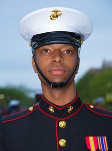 Member of the color guard (U.S. Marine)