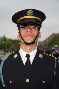 Member of the color guard (U.S. Army)